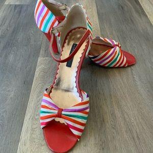 "RETRO Marc Jacobs peep toe 3"" heels"